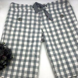 Elevenses   Wide Check Bermuda Shorts